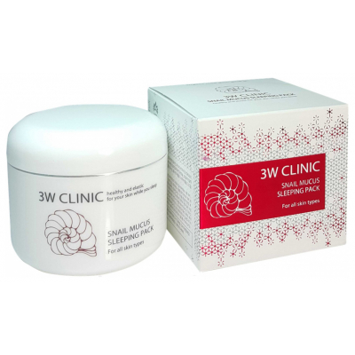 3W Clinic Snail Mucus Sleeping Pack