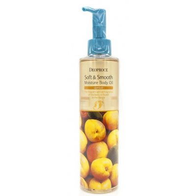 Deoproce Soft & Smooth Body Oil Apricot, 200 мл.