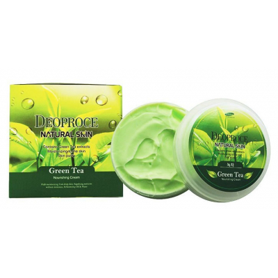 Deoproce Natural Skin Greentea Nourishing Cream, 100 г.
