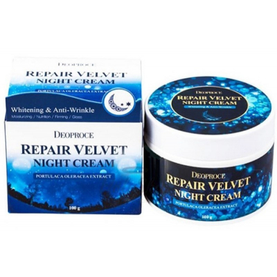 Deoproce Moisture Repair Velvet Night Cream, 100 г.