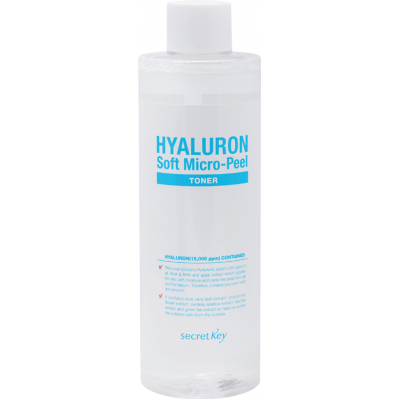 Secret Key Hyaluron Soft Micro-Peel Toner, 500 мл.